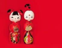 Twee Chinese poppen Stock Fotografie