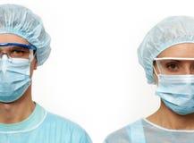 Twee chirurgen Stock Foto