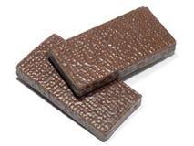 Twee chocoloatestaven Stock Afbeeldingen