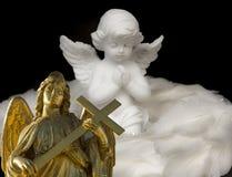 Twee Christelijke engelen vector illustratie