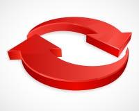 Twee cirkelpijlen 3D emblemen Stock Foto