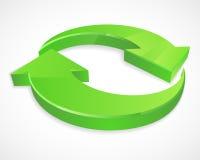Twee cirkelpijlen 3D emblemen Stock Afbeeldingen