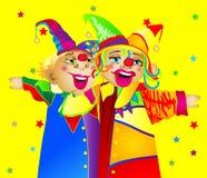 Twee clowns Royalty-vrije Stock Foto