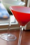 Twee cocktailglazen Royalty-vrije Stock Foto