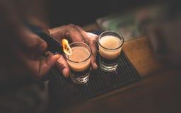 Twee cocktails van B 53 Royalty-vrije Stock Foto