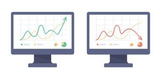 Twee computers vlakke reeks vector illustratie