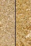 Twee cork texturen Stock Afbeelding