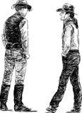 Twee cowboys Royalty-vrije Stock Afbeelding