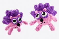 Twee crochet egels. Royalty-vrije Stock Afbeeldingen