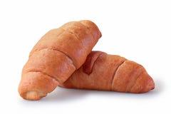 Twee croissantgebakjes Stock Afbeelding
