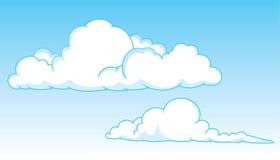 Twee cumuluswolken stock illustratie