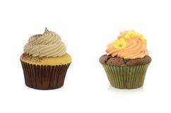 Twee cupcakes Stock Foto