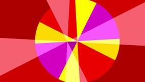 Twee 2D cirkel grafische patronen die in de tegenovergestelde richting in de ruimte op een achtergrond roteren die in kleur varie vector illustratie