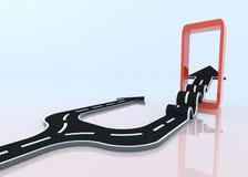 Twee 3D pijlen die hun eigen weg nemen Royalty-vrije Stock Fotografie