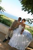 Twee in dag van huwelijk. Royalty-vrije Stock Foto