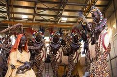 Twee dagen bij het begin van Viareggio Carnaval 's Royalty-vrije Stock Afbeeldingen