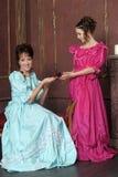Twee dames Royalty-vrije Stock Afbeelding