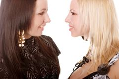 Twee dames Royalty-vrije Stock Foto