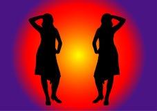 Twee Dansers Stock Illustratie