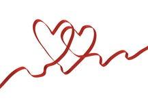 Twee de daghart van de valentijnskaart Stock Afbeelding