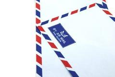 Twee de envelop van de luchtpost Royalty-vrije Stock Foto's