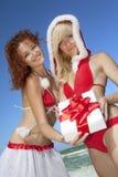 Twee de Kerstman Stock Fotografie