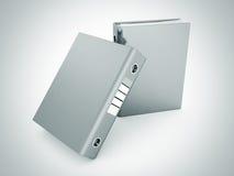 Twee de ringsbindmiddelen van bureauomslagen op wit Royalty-vrije Stock Afbeelding