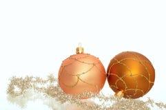 Twee decoratie van Kerstmis Stock Afbeelding