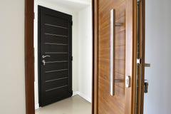Twee deuren van de pvc houten kleur Royalty-vrije Stock Foto