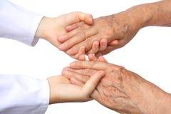 Twee die geïsoleerdea hand helpen Stock Fotografie