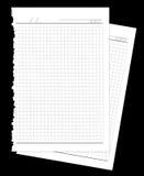 Twee die pagina's van notitieboekje worden gescheurd Stock Afbeeldingen