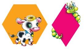 Twee dieren stock illustratie