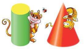 Twee dieren vector illustratie