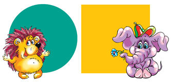 Twee dieren royalty-vrije illustratie