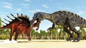 Twee dinosaurussen stock illustratie