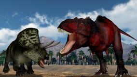 Twee dinosaurussen Stock Afbeeldingen