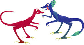 Twee dinosaurussen Royalty-vrije Stock Foto's