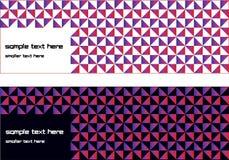 Twee diverse bannerontwerpen vector illustratie