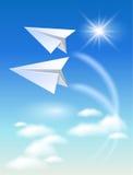 Twee document vliegtuig royalty-vrije illustratie