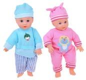 Twee Doll van de Baby Royalty-vrije Stock Fotografie