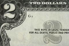Twee dollars Stock Foto
