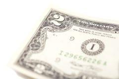 Twee dollarsrekening Stock Foto