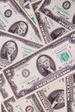 Twee dollarsrekeningen Royalty-vrije Stock Foto's