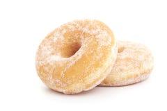 Twee donuts op wit Stock Foto's