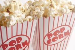 Twee Dozen Popcorn Stock Afbeelding