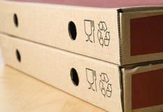 Twee dozen van pizza Royalty-vrije Stock Fotografie