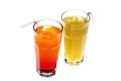 Twee dranken Royalty-vrije Stock Afbeeldingen
