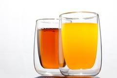 Twee dranken stock foto's