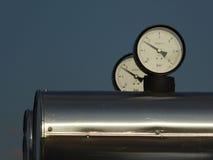 Twee drukmanometer Stock Foto's