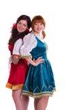 Twee Duitse/Beierse vrouwen Royalty-vrije Stock Afbeelding